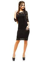 Элегантное женское платье 120PO1012 (Черный)