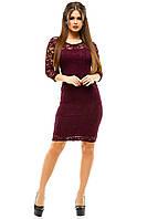Элегантное женское платье 120PO1012 (Сливовый)