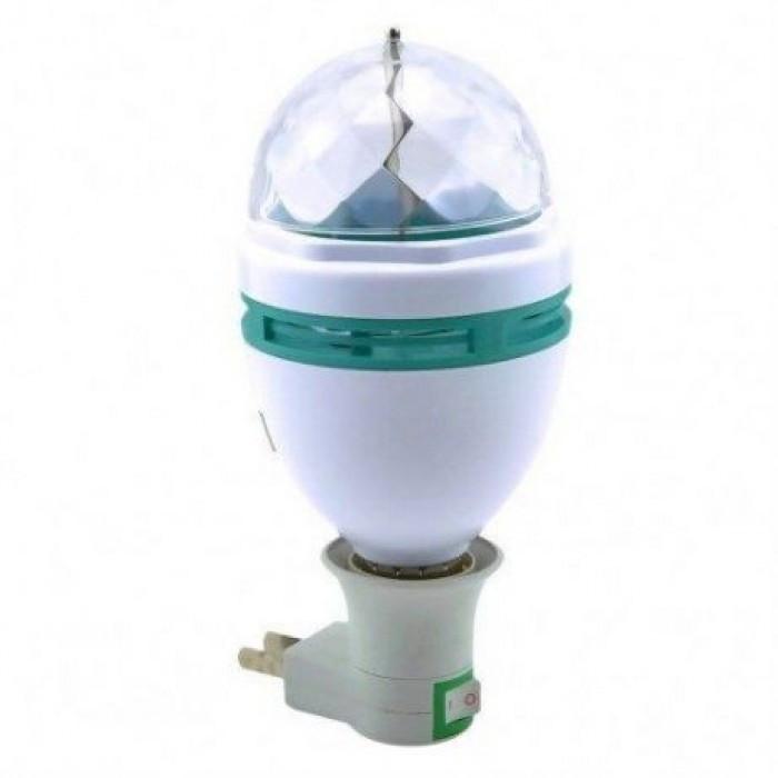 Вращающаяся диско-лампа LY-399 «LED FULL COLOR» лампочка, проектор