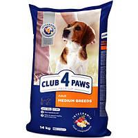 Сухой корм для собак средних пород Клуб 4 Лапы Premium, Вес 14 кг