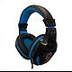 Игровые проводные наушники G-Listen G1 с микрофоном Чёрные с Синим, фото 3