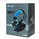 Игровые проводные наушники G-Listen G1 с микрофоном Чёрные с Синим, фото 5