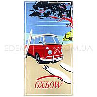 Яркое Пляжное Полотенце Турция Красный Автобус, Синий, 75х155