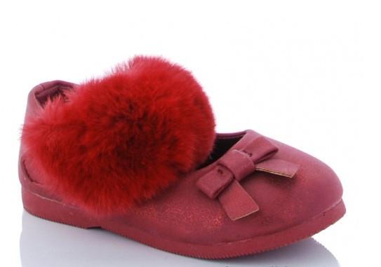 Туфли детские бордовые Солнце-Kimbo-o-HJ84-1K
