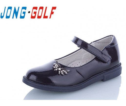Туфли подросток синие,туфли детские школьные на девочку Jong-Golf-B10096-1