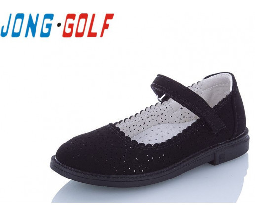 Туфли подросток черные,туфли детские школьные на девочку Jong-Golf-B10095-0