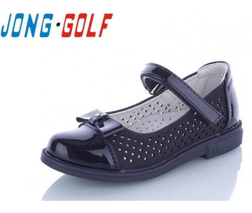 Туфли подросток синие,туфли детские школьные на девочку Jong-Golf-B10094-1