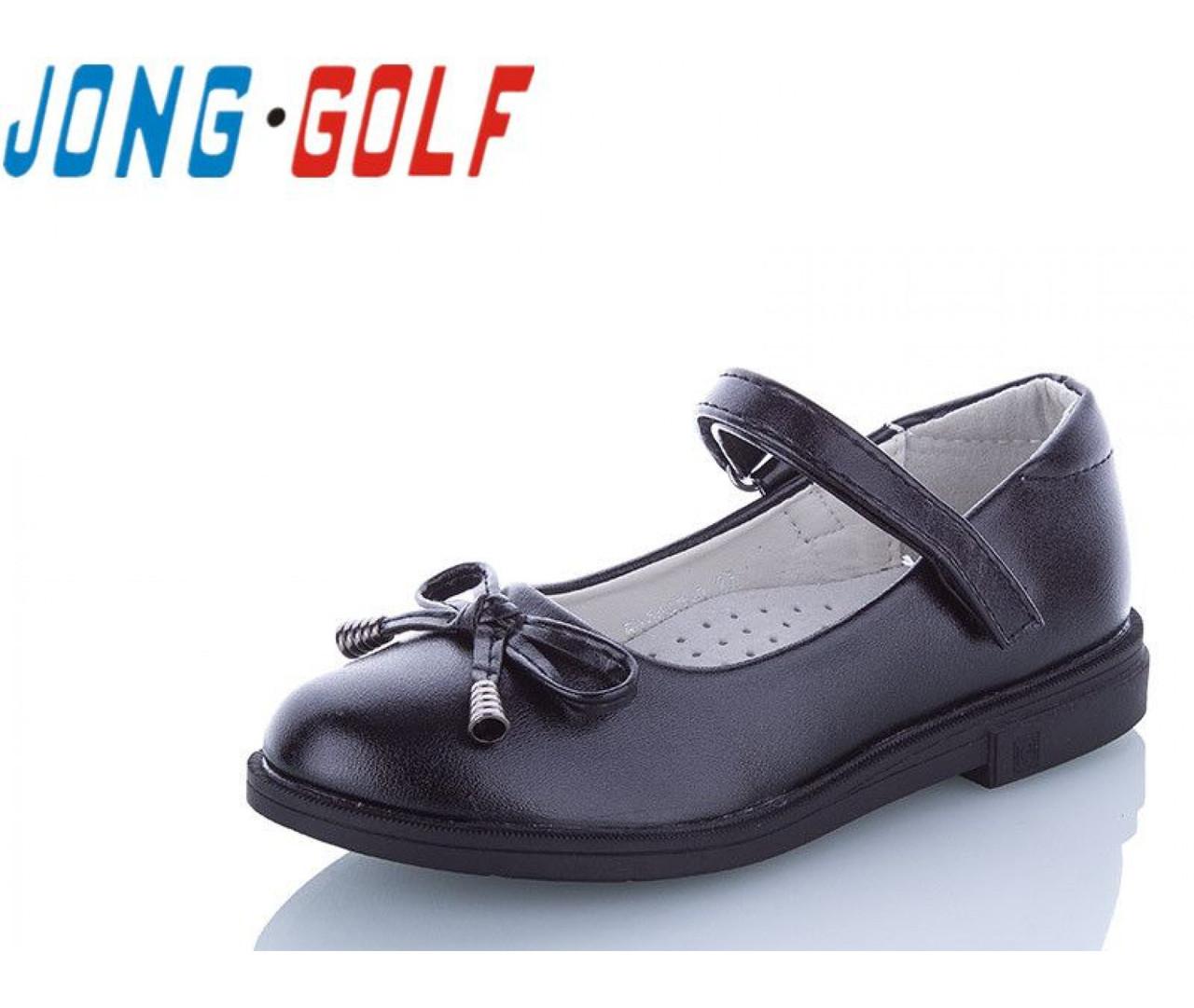 Туфли подросток черные,туфли детские школьные на девочку Jong-Golf-B10093-0