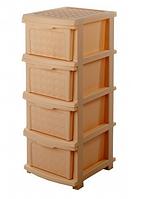 Пластиковый комод R-plastic 34*40*86 см (бежевый)