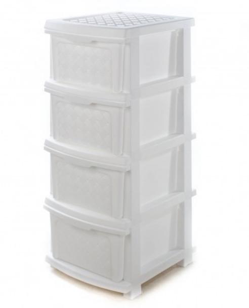 Пластиковый комод R-plastic 34*40*86 см (белый)