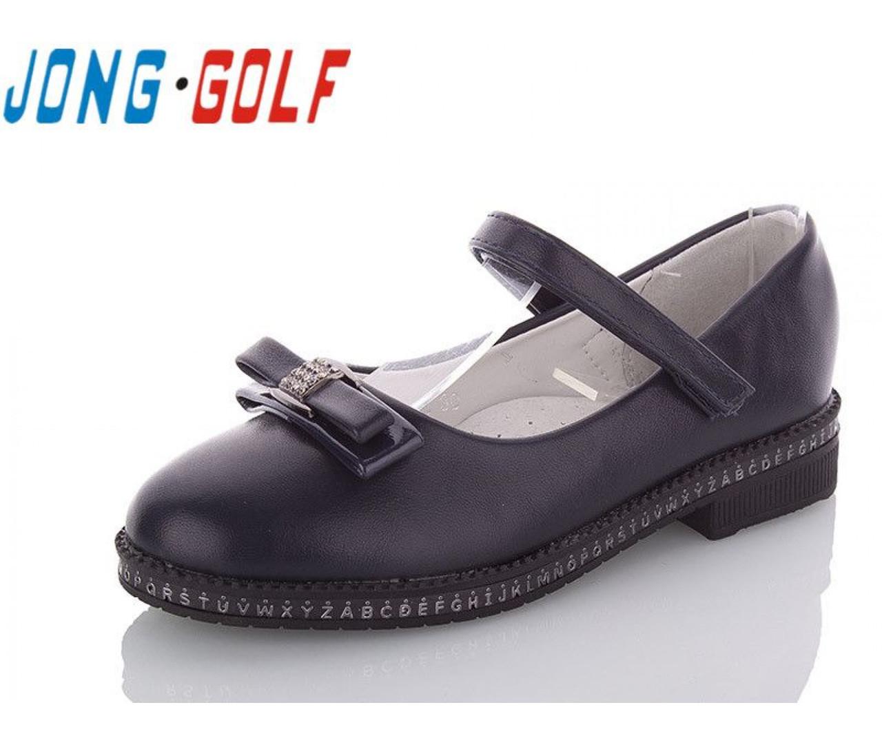 Туфли подросток синие,туфли детские школьные на девочку Jong-Golf-C93051-1