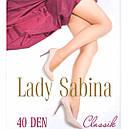 Колготи жіночі капронові 40 ден Lady Sabina з лайкрою колготкі, фото 7