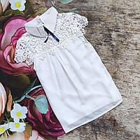 Нарядная  шифоновая блуза с коротким рукавом 140, 146р