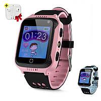 Детские Умные часы с GPS Smart Baby Watch Q529 / смарт часы для детей, Розовые + Наушники Apple в Подарок