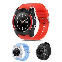 Смарт часы Smart Watch V8 / Умные часы + ПОДАРОК! Красный