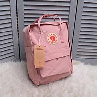 Рюкзак городской 16 л Fjallraven Kanken Classic (женский, мужской) / Канкен Розовый