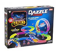 Детский трек для машинок на пульте управления DAZZLE TRACKS 187 / Игрушечный трек для машинок / Конструктор