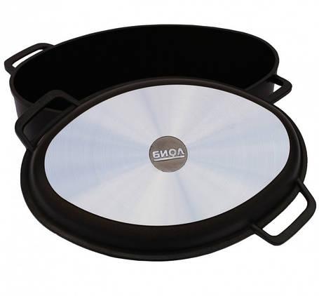 Гусятница Биол с крышкой сковородкой 2,5 л (G301P/Г301П), фото 2
