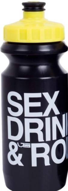 Фляга 0,6л Green Cycle GBT-512M Sex Drink&Roll чёрная бутылка, жёлтая крышка,белая надпись BOT-98-91