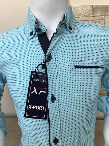 Акция!!! Детская рубашка X-port с принтом, пуговица (7-12лет), фото 2