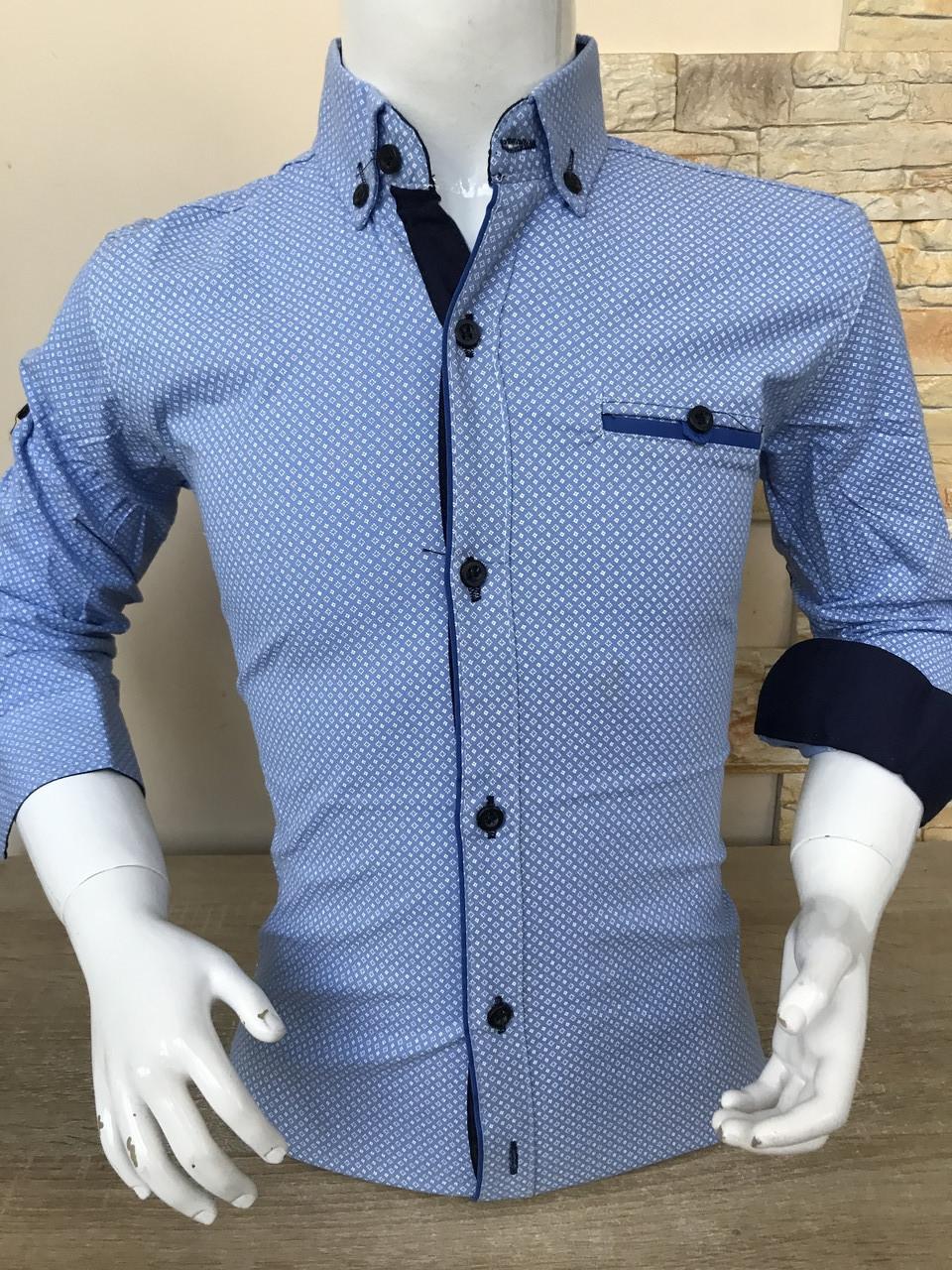 Акция!!! Детская рубашка X-port с принтом, пуговица (7-12лет)