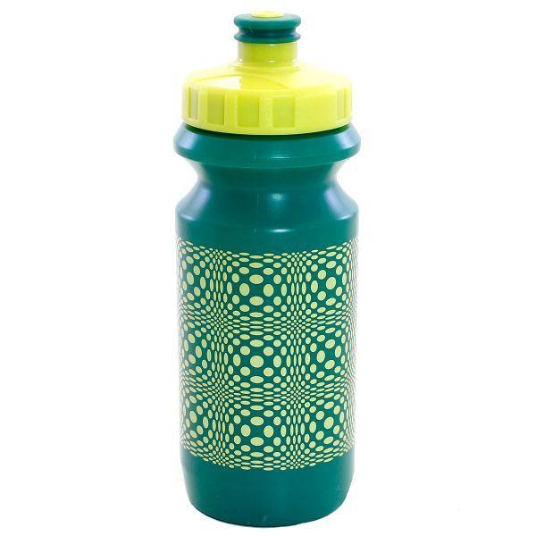 Фляга 0,6 Green Cycle DOT зелёная бутылка, ярко-желтые крышка и рисунок BOT-10-70
