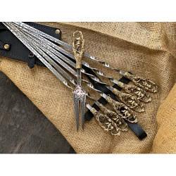 Шампура Люкс в колчане с вилкой Nb Art Кабан 7 предметов 47330096