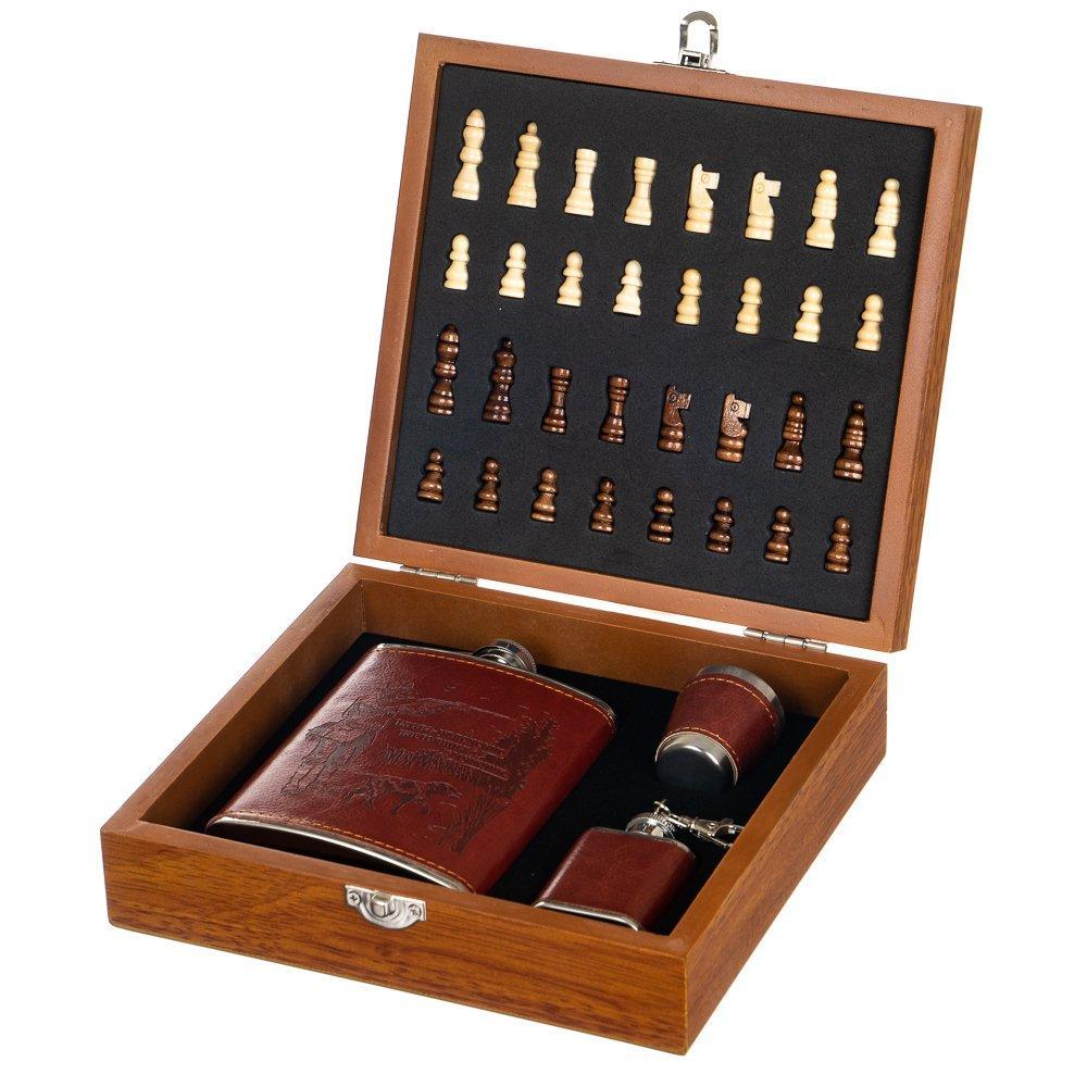Набор подарочный Lefard шахматы+фляга Охотник 250 мл 18138-001