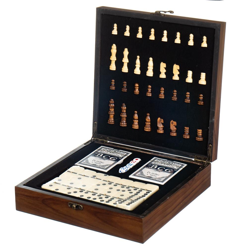 Набор подарочный Lefard Домино+шахматы+карты 18138-010