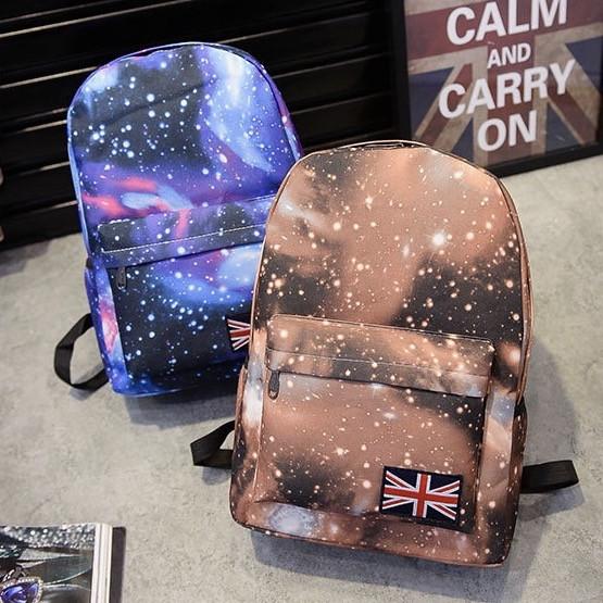 Рюкзак школьный с принтом Космос, Галактика в городском стиле