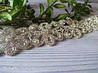 Ожерелье-чокер Камни с цветами. Колье с камнями, фото 9