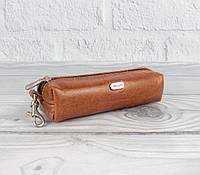 Ключница кожаная, чехол для ключей Desisan 207-15 светло-коричневый, фото 1