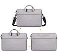 Мужская сумка портфель для документов - серый, фото 4