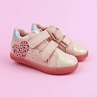 Детские ботинки для девочки сердечки тм Bi&Ki  размер 22,23,24,25