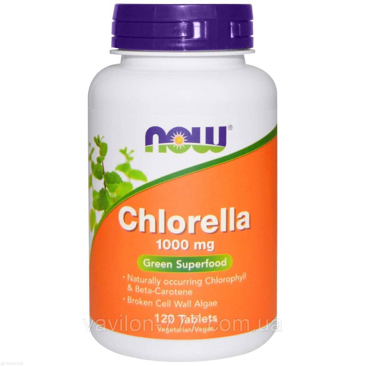 Now Foods, Хлорелла, 1000 мг, 120 таблеток