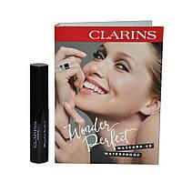 Тушь для ресниц водостойкая Clarins Wonder Perfect Mascara 4D Waterproof №01 Perfect Black (3380810369656)