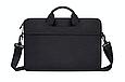 Мужская сумка портфель для документов - черный, фото 3