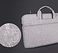 Мужская сумка портфель для документов - темно-серый, фото 6