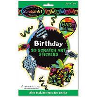 Набор для творчества Melissa&Doug Набор наклеек-царапок День рождения (MD5828)