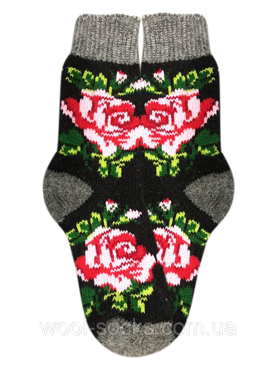 Шерстяные носки вязаные