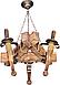 Люстра треугольная факел на цепи на 3 свечи 760723, фото 2