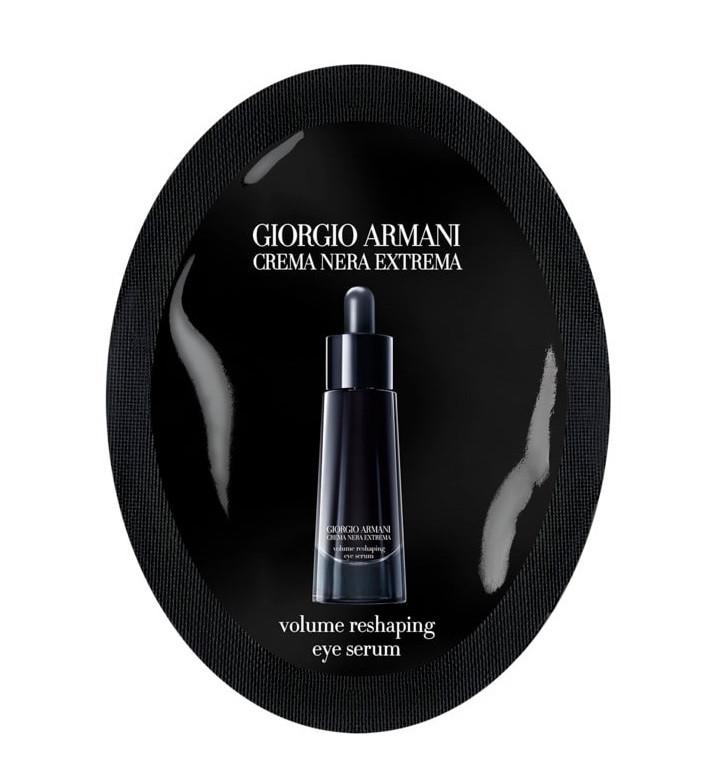 Сироватка для шкіри навколо очей Giorgio Armani Crema Nera Extrema Volume Reshaping Eye саше 1ml (3614271429681)