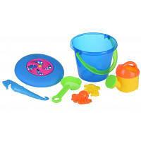 Игрушка для песка Same Toy с Летающей тарелкой (синее ведро) 8 шт (HY-1205WUt-1)
