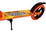Двухколесный Самокат Складной Большие Колеса SCOOTER 460 оранжевый SCALE SPORTS, фото 3
