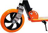 Двухколесный Самокат Складной Большие Колеса SCOOTER 460 оранжевый SCALE SPORTS, фото 5