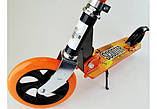 Двухколесный Самокат Складной Большие Колеса SCOOTER 460 оранжевый SCALE SPORTS, фото 8