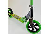 Двоколісний Самокат Складаний SCOOTER 460 Зелений SCALE SPORTS, великі колеса, фото 4