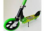 Двоколісний Самокат Складаний SCOOTER 460 Зелений SCALE SPORTS, великі колеса, фото 5