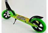 Двоколісний Самокат Складаний SCOOTER 460 Зелений SCALE SPORTS, великі колеса, фото 6
