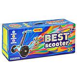 Самокат триколісний блакитний з такими колесами Best Mini Scooter, фото 5
